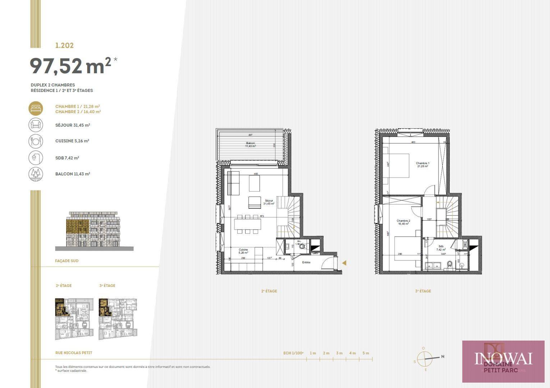 Duplex 2 chambres
